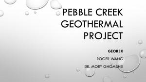Pebble Creek Project
